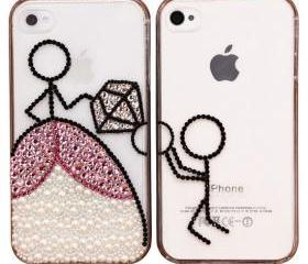 Original Propose Crystal Bling Bling Phone Case for Couple-iphone 4